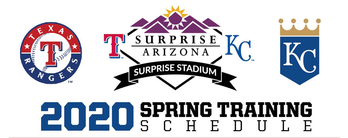 2020 Spring Training.Surprise Spring Training Schedule 2020 Schedule 2020