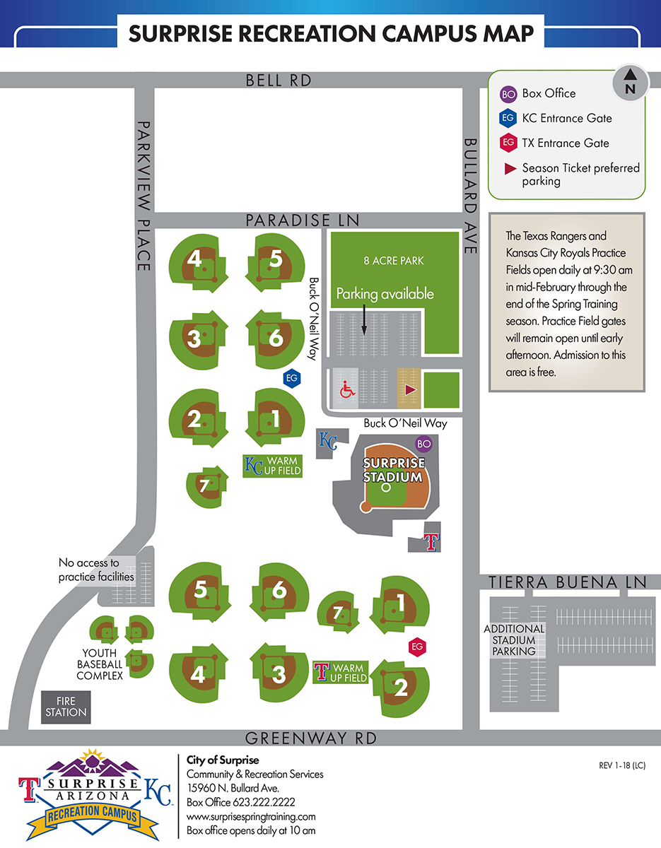 Surprise Rec Campus Map